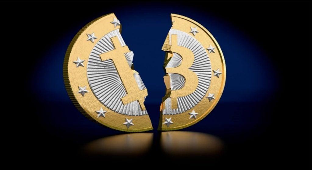 ceea ce este la jumătate bitcoin)