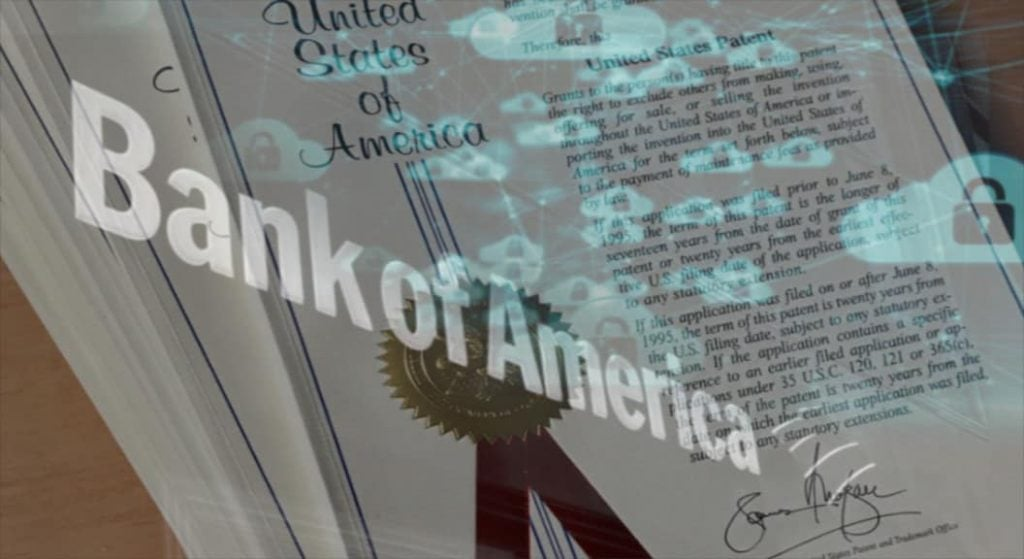 Bank of America solicită patent