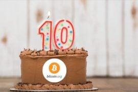 Domeniul Bitcoin.org sărbătorește 10 ani