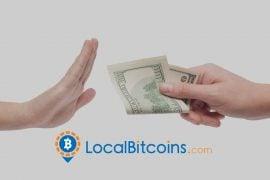 LocalBitcoins a eliminat opțiunea