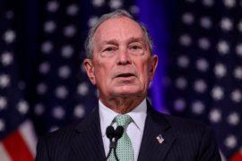 Candidatul prezidențial Michael Bloomberg