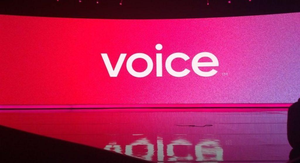 platforma de social media Voice
