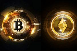 Criptomonedele Bitcoin și Ethereum