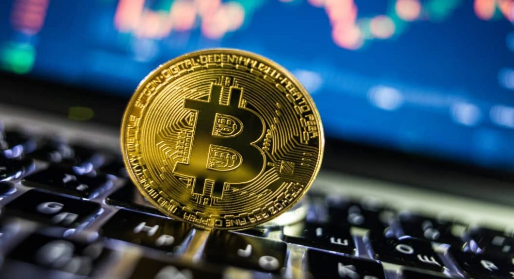 Cantitatea de Bitcoin stocat pe exchange