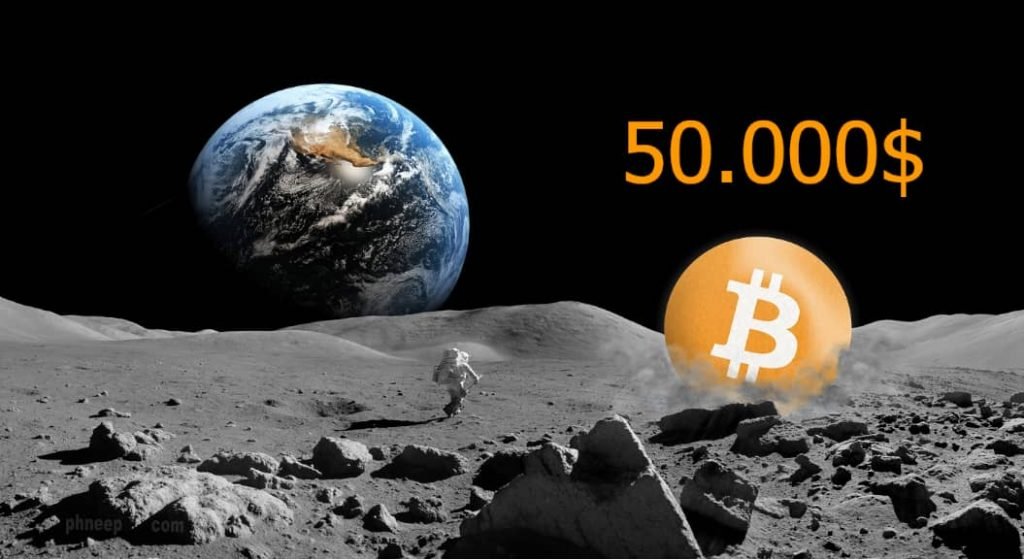 Bitcoin atinge 50.000$