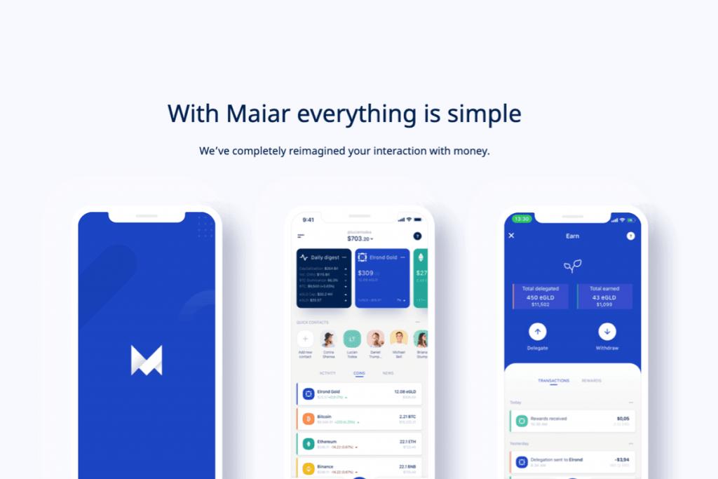 aplicația financiară Maiar